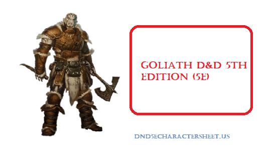 Goliath 5E D&D