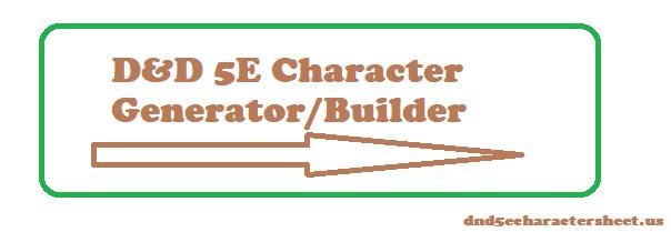 Dnd 5e character sheet generator