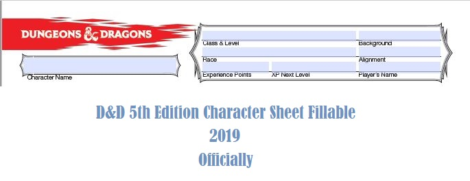 D&D 5e Character Sheet 2019 Download