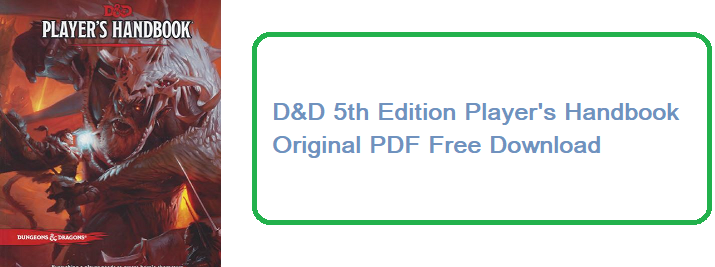 D&D 5e Players handbook PDF