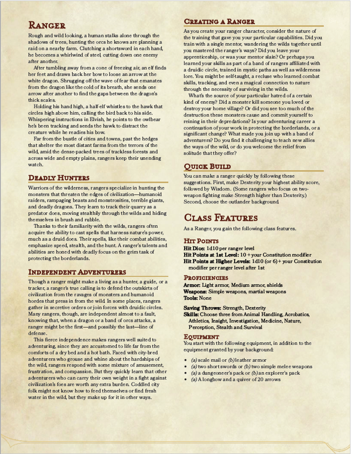 The Outlander 5e Backgroud - Dungeons and Dragons