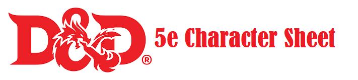 Dnd 5e Character Sheet Download