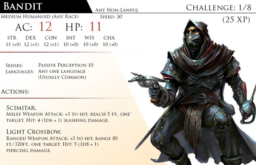 bandit 5th edition d&d