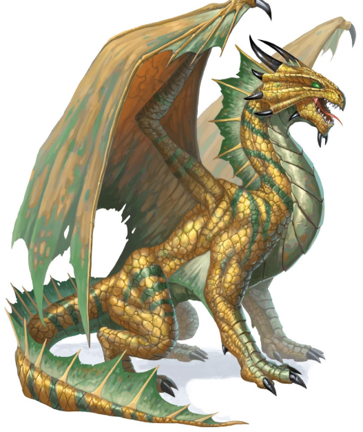 Young Bronze Dragon Monster 5e for dnd
